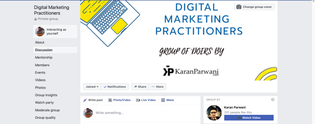 Digital Marketing Practitioners Facebook Group
